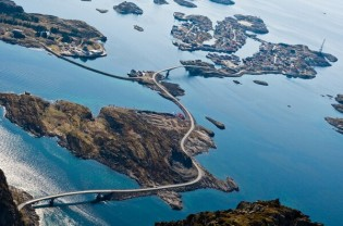 Henningsvær from the air